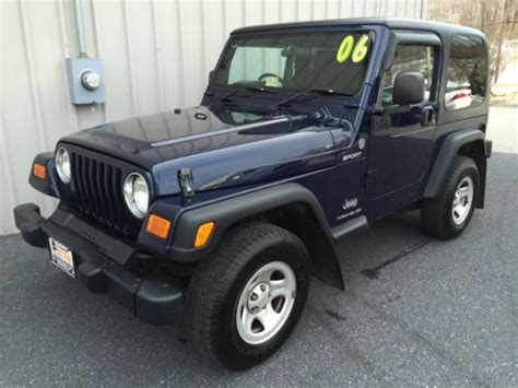 Jeep Right Drive Package Sell Used 2006 Jeep Wrangler Sport Hardtop 4 0l Postal
