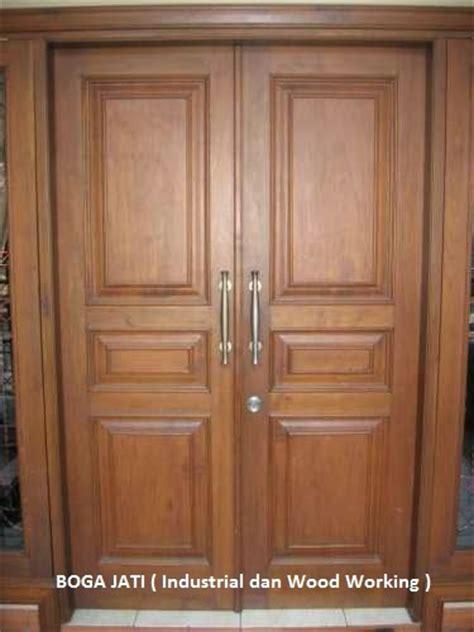 Pintu Utama Panel Solid Kayu Ker Samarinda Oven 80x210 Pu7 pk boga jati industri perkayuan dan interior furniture
