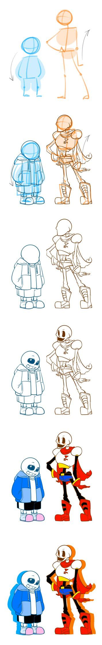 undertale drawing guide books undertale skelebros drawing tutorial by ursik l on