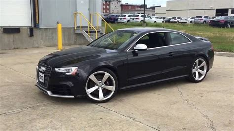 Audi Rs5 Schwarz by 2015 Audi Rs5 Panther Black Crystal Walkaround Youtube