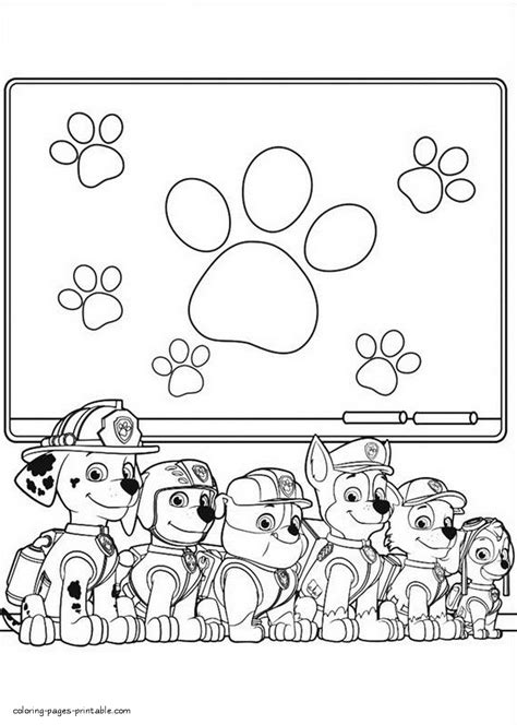 paw patrol giant coloring pages the gallery for gt nickelodeon characters coloring pages