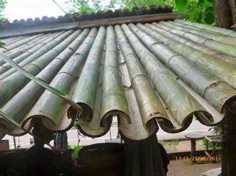 membuat jemuran bambu cara membuat atap bambu yang unik dari bilah bambu