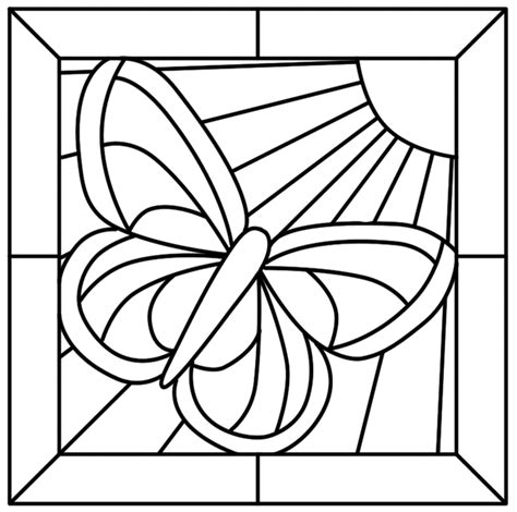 Stained Glass Coloring Page stained glass window coloring pages coloring home