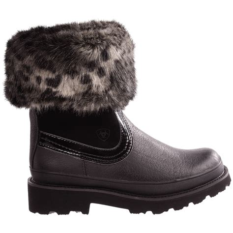 ariat fatbaby faux fur collar boots for 6515k