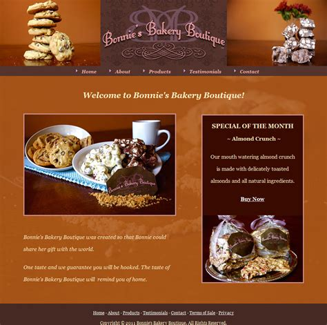 bakery layout strategy websites andrea lotz web design internet marketing