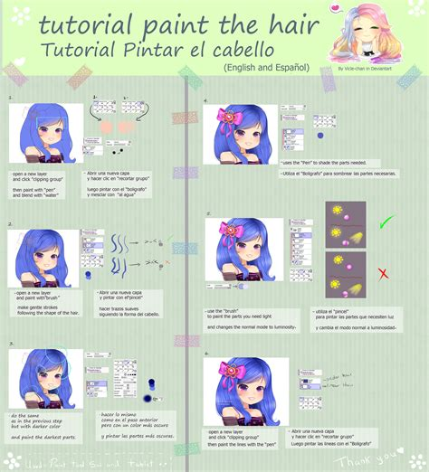 paint tool sai glitch tutorial tutorial paint the hair by vicle chan on deviantart