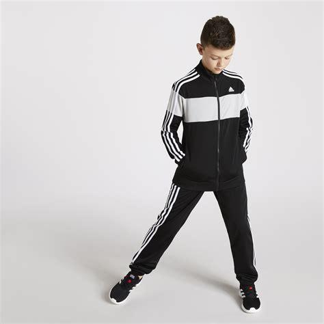 kids black adidas tiberio tracksuit dw sports