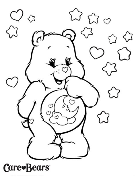 care bear coloring pages pdf care bears colour sweet dreams bear treehouse