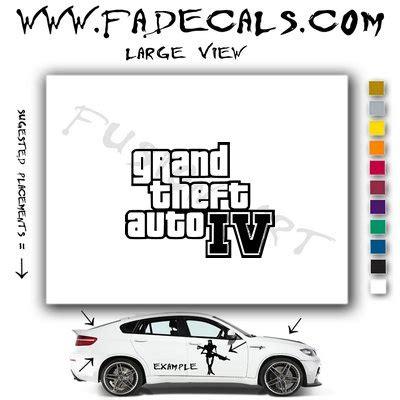 Grand Theft Auto 4 Logo by Grand Theft Auto 4 Logo Decal Sticker