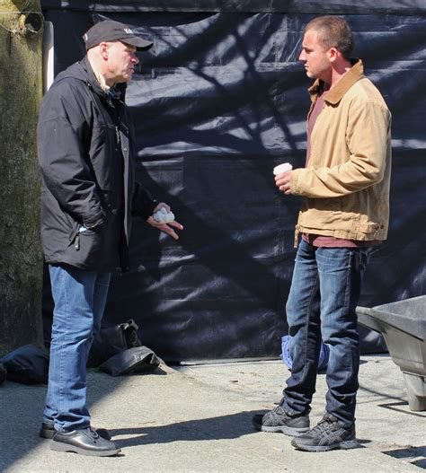 Dominic Set Vg 1 dominic purcell photos photos dominic purcell and uwe boll on the set of bailout zimbio