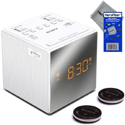 sony dual alarm clock with extendable snooze am fm radio built in calendar large led display