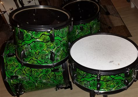 diy drums diy mini bop snakeskin drum kit compactdrums