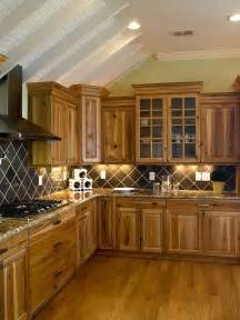 Hickory Wood Cabinets Kitchens by Kitchen Decor Ideas Rustic Kitchen Hickory Cabinets Wood