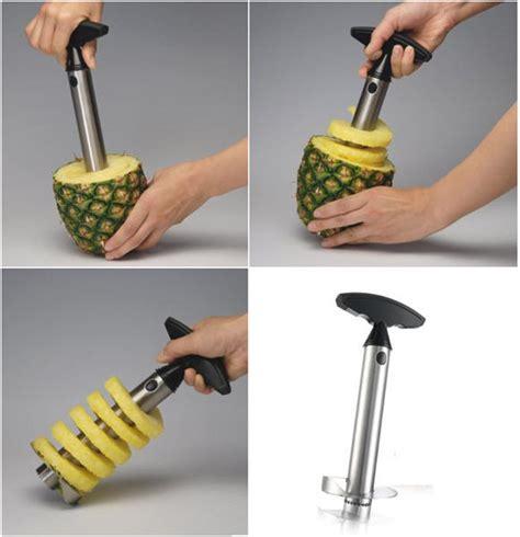 Vacu Vin Pineapple Slicer by Vacu Vin Steel Pineapple Slicer Makes Fruit Rings In 30