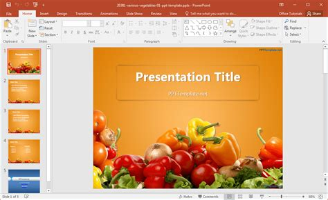 powerpoint templates vegetables free download free various vegetables powerpoint template