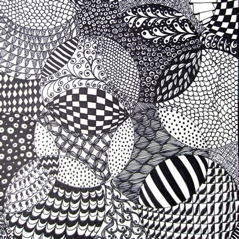 color pattern drawing totally easy zentangle craftwhack