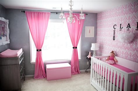 full pink color girl baby room ideas decorate baby bedroom ideas in pink