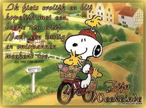 fijn weekend snoopy fiets en prachtige tekeningen