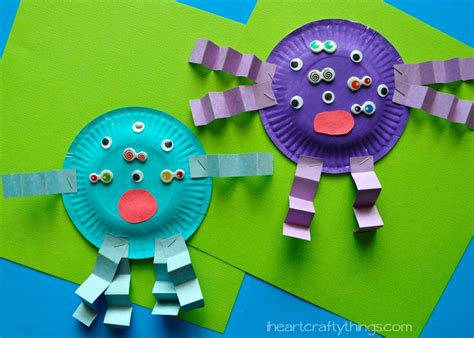 Kid Paper Crafts - paper plate craft i crafty things