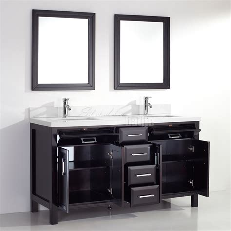 studio bathe calais 63 in vanity in espresso with solid surface studio bathe calais 63 inch espresso double sink bathroom