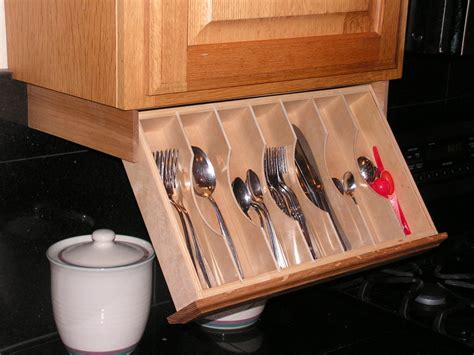 under kitchen cabinet storage under cabinet drawer silverware storage flatware organizer