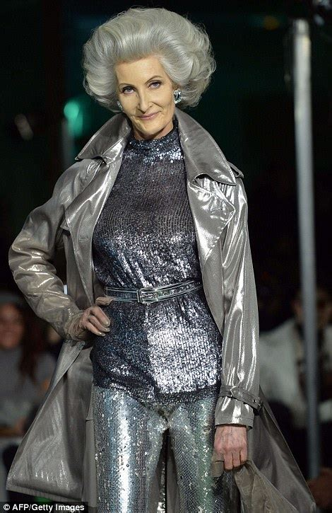 gorgeous granny chic trend report granny chic youth sg ageing punks with grey mohawks rule at jean paul gaultier