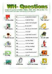 teaching worksheets wh questions