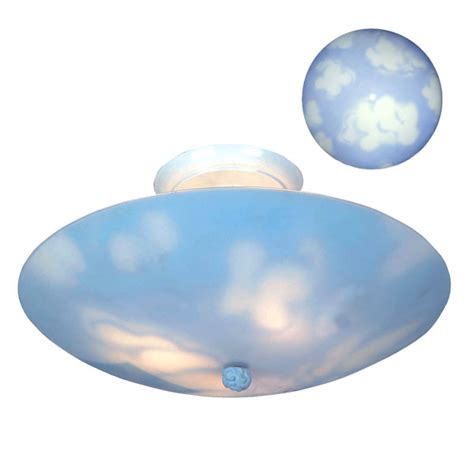 elk lighting 202 cl 3 light kidshine clouds flush