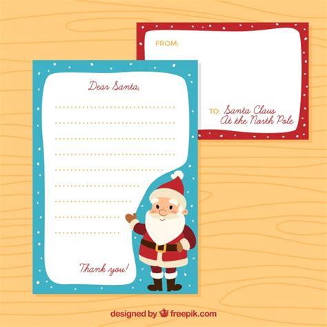 christmas letter template cute santa claus vector