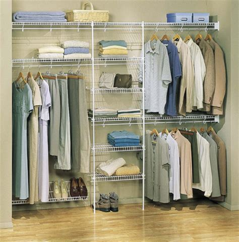 Closet Arrangement by Wire Closet Shelving Shelving Unlimited