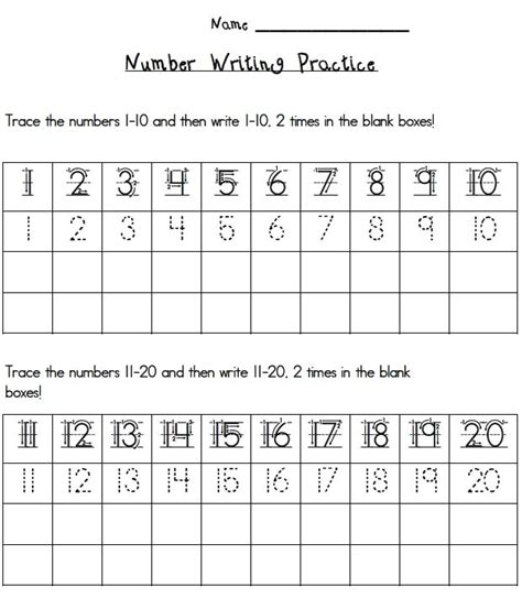 printable handwriting worksheets numbers 17 best ideas about number writing practice on pinterest