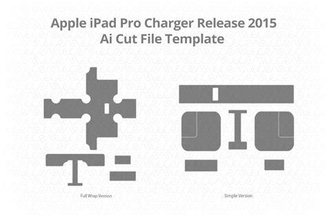 apple ipad pro charger vinyl skin vector cut file template