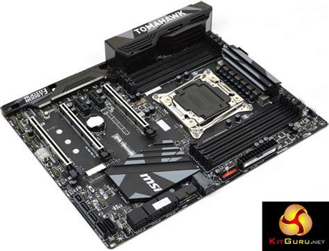 Mainboard Intel Msi X99a Tomahawk msi x99a tomahawk motherboard review kitguru