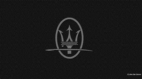 maserati back logo maserati logo carbon fiber black background wallpaper