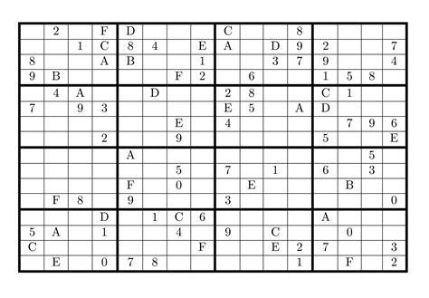 printable sudoku 16x16 numbers printable 16x16 sudoku with numbers quotes