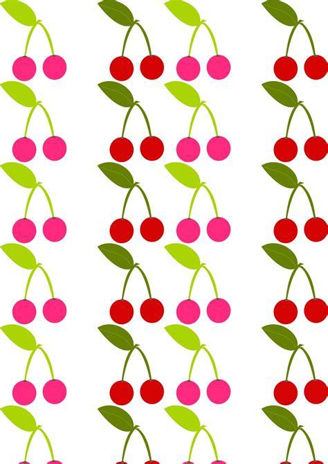 paper pattern html free digital cherry fruit scrapbooking paper
