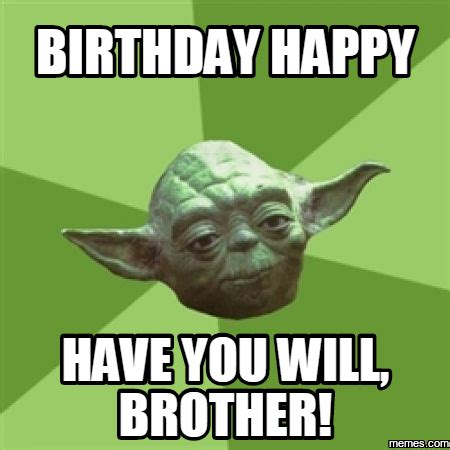 Happy Birthday Brother Meme - 20 best brother birthday memes sayingimages com