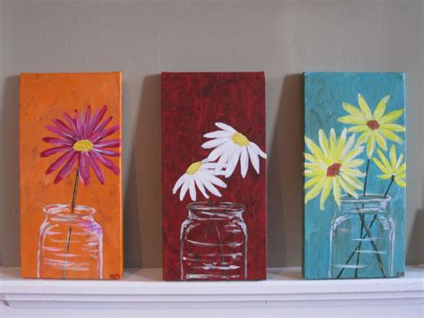 ideas for painting mason jars canvas acrylic ideas pinterest