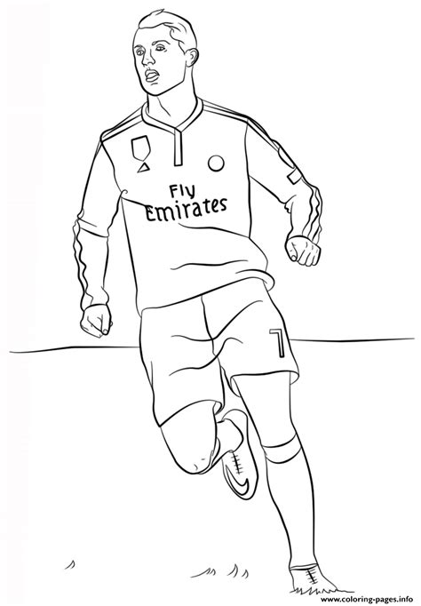 Soccer Coloring Pages For by Cristiano Ronaldo Soccer Coloring Pages Printable