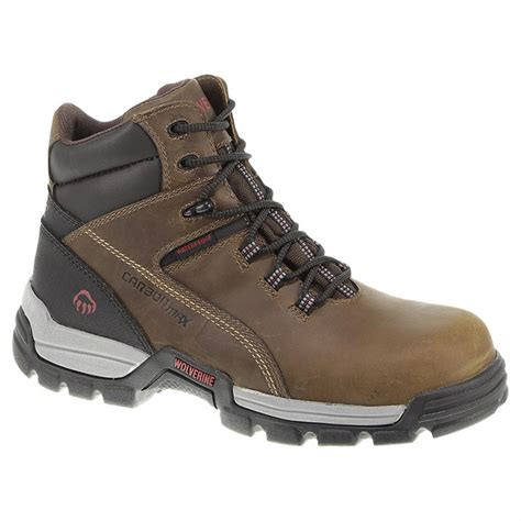 mens composite toe work boots s wolverine 174 6 inch tarmac waterproof composite toe