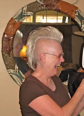 pre chemo mohawk the texas woman photo album of a chemo cut