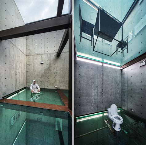 Floor House concrete tower house with see through floors modern
