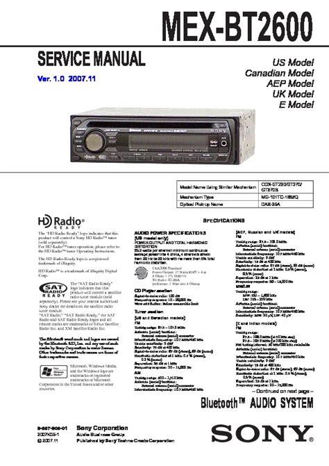 sony mex bt2900 wiring diagram mex free printable wiring