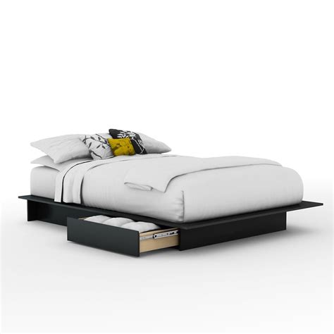 platform bed with drawers canada south shore queen platform bed with drawers in pure black