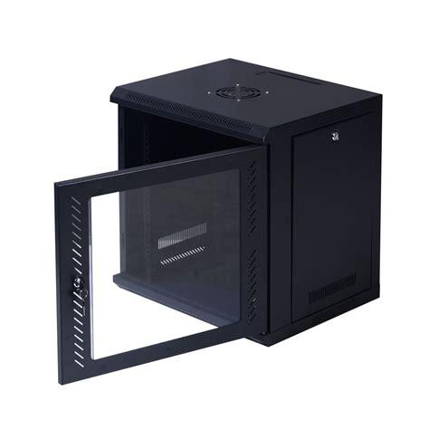 glass door server cabinet safstar 9u wall mount server data cabinet