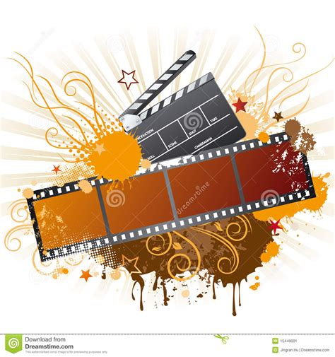 themes in film film strip movie theme element stock vector image 15449001