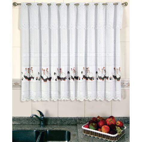 cortinas 1 50 x 2 20 cortina de renda copa e cozinha bartolini galinha