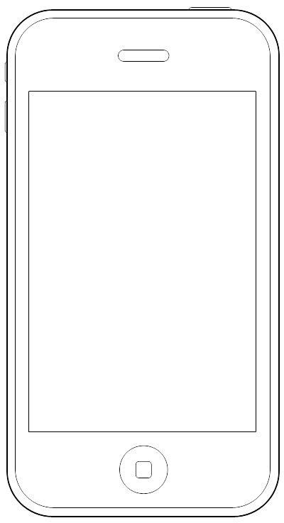 cell phone template free printable mobile sketching templates