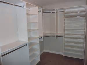 Master Closet Shelving Master Bedroom Closet With Shoe Shelving On Right Modern