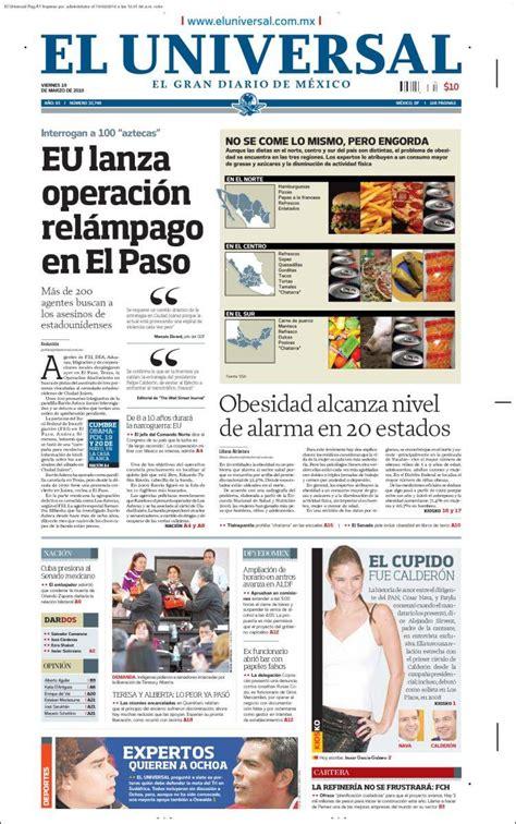 periodico el universal de mexico periodico el universal de mexico newhairstylesformen2014 com